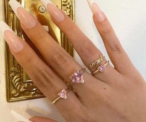 angel, pink, and rings image