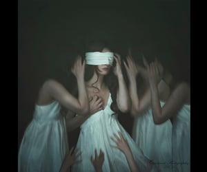 dreams, blindfolded, and voices image