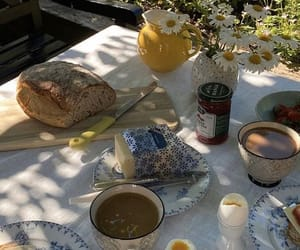 aesthetic, bedroom, and breakfast image