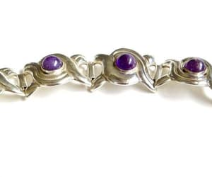 etsy, silver bracelet, and purple bracelet image