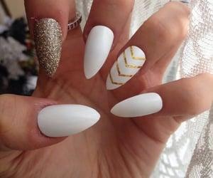 diseno, nails, and blancas image