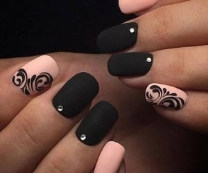 diseno, nails, and uñas image