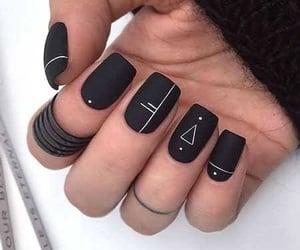 black, diseno, and nails image