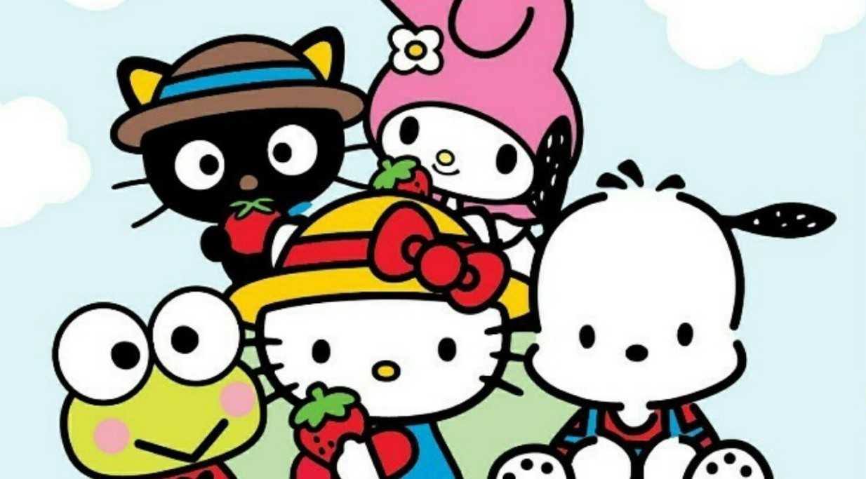 archive, hello kitty, and rainbow image
