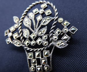 sterling silver, 21vintagestreet, and flower basket image