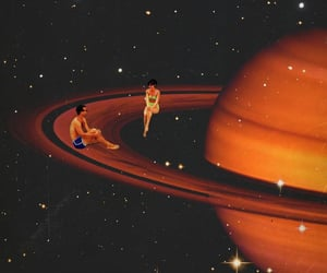psychedelic and saturn image
