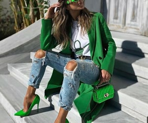 belleza, verde, and moda image