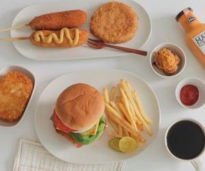 food, sandwich, and corn dog image