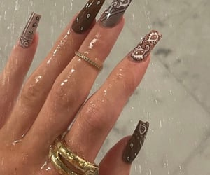 nails, nail art, and kylie jenner image