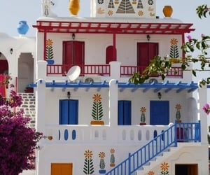 color, Greece, and mykonos image