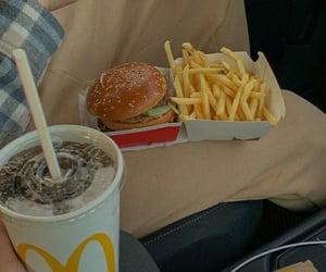 car, mc donalds, and food image