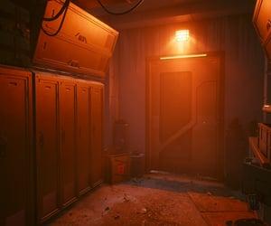 cyberpunk, lockers, and room image