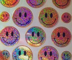 stickers and holographic image