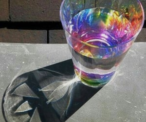 glass, rainbow, and holographic image