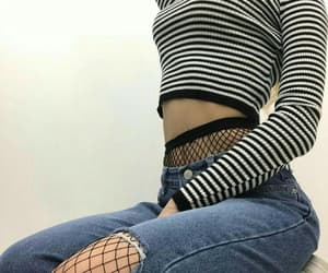 fishnets, jeans, and gf material image