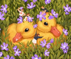 animal, art, and ducks image