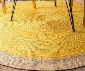 etsy, round jute rug, and reversible rug image