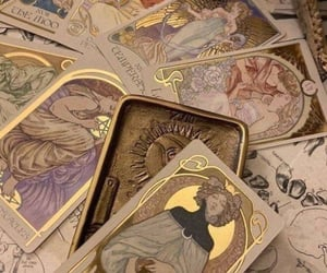 aesthetic, tarot, and cards image