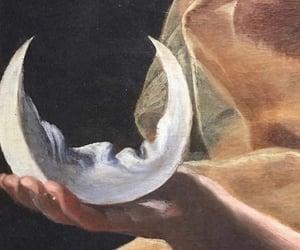aesthetic, art, and moon image
