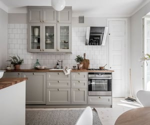 kitchen, Scandinavian, and apartment image