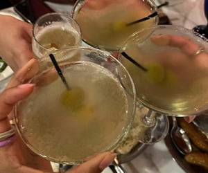 cocktail, drink, and fun image