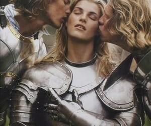 couple, kiss, and knight image