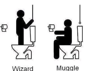 difference, hogwarts, and wizard image