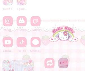 HelloKitty, kawaii, and pink image