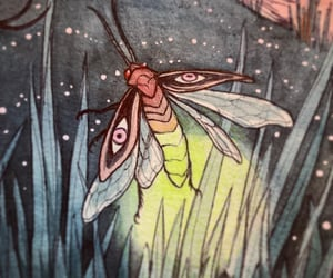 bug, drawing, and light image