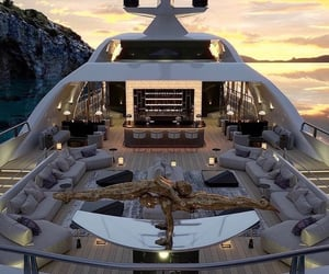 boat, yacht, and luxury image