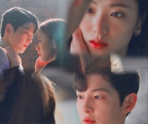kiss, photo editing, and Korean Drama image