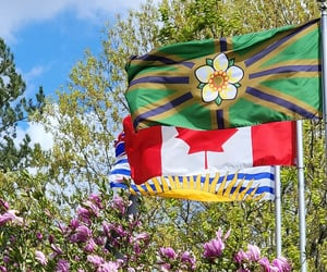 british columbia, canada, and flags image