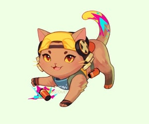 cat, raze, and game image
