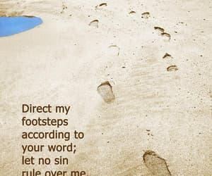 christian, footprint, and footprints image