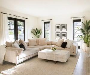 cream, interior design, and family room image