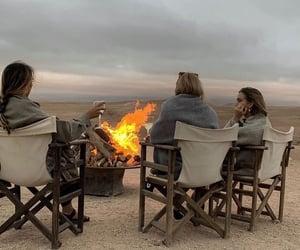 friends, bonfire, and friendship image