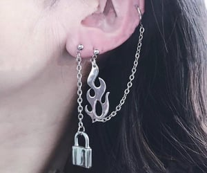 style, chain, and earrings image