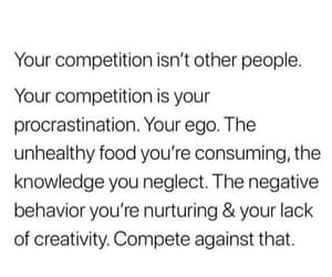 competition, ego, and quote image