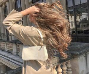 bag, hair, and girl image