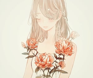 art, flowers, and Ilustration image