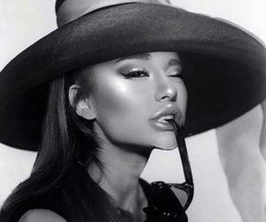 black and white, arianagrande, and fashion image