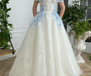 dress, white, and babyblue image
