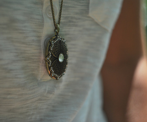 girl, necklace, and swag image