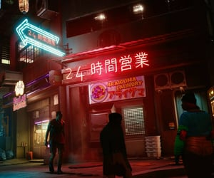 cyberpunk, dystopian, and neon image
