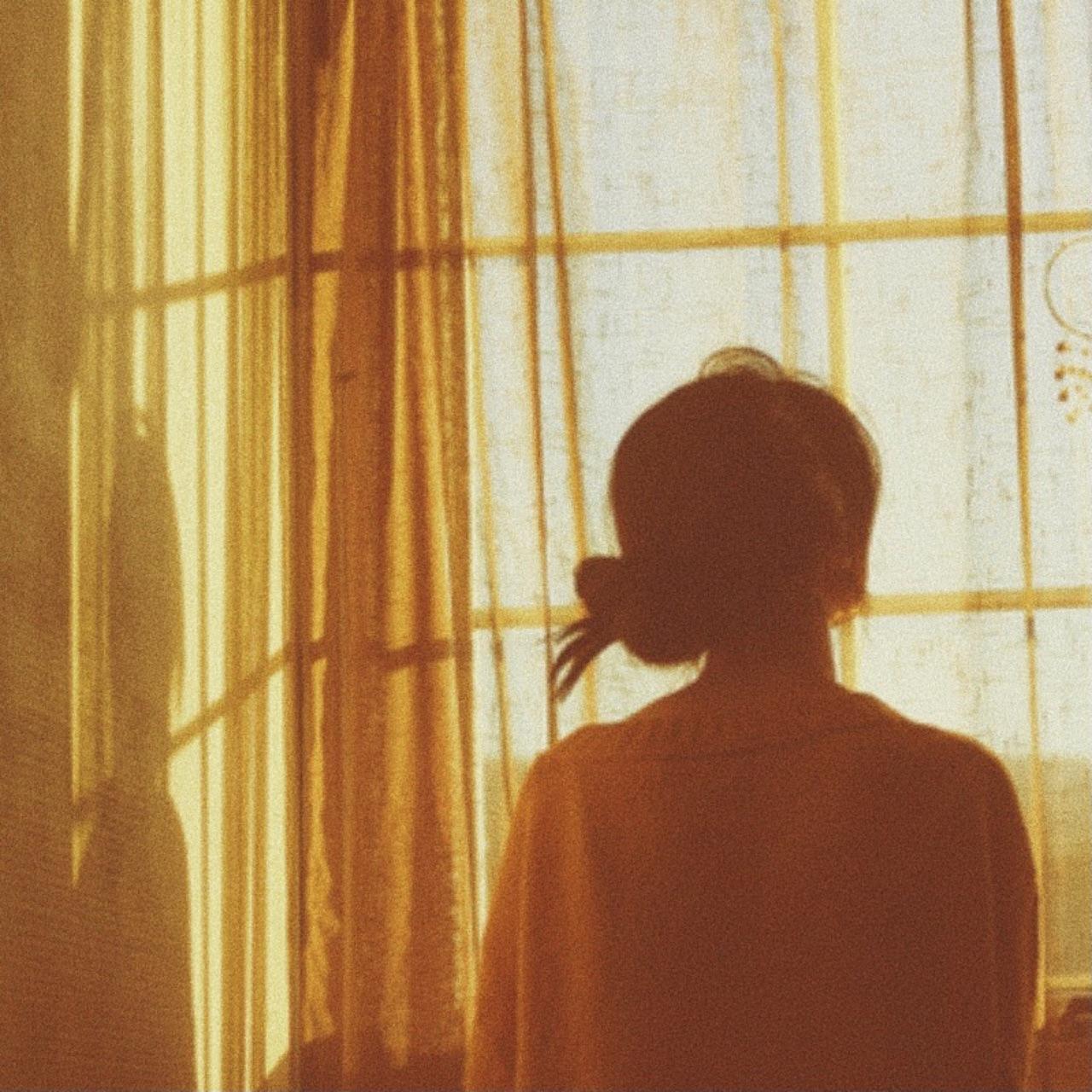 girl, yellow, and window image