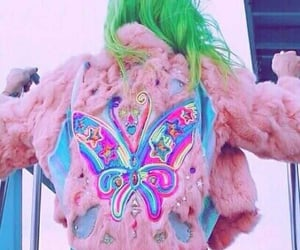 pink, fashion, and butterfly image