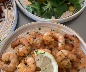 salad, seafood, and prawns image