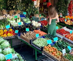 fruit, italy, and market image