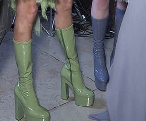 80s, boots, and heels image