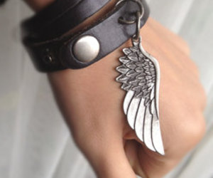 accessories, leather, and bracelet image